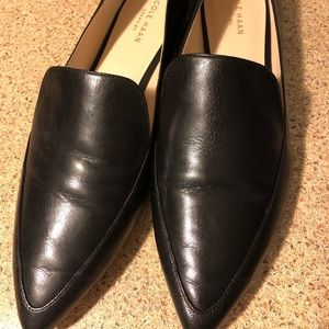 Cole Haan black leather Brie Skimmer, size 9